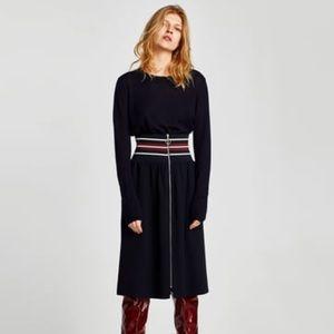 Zara skirt w ribbed waistband